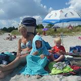 Hundige strand med Mormor