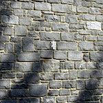 6 - Stone wall of unsorted rubble stone