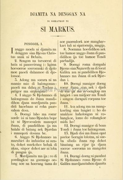 Injil Markus Angkola