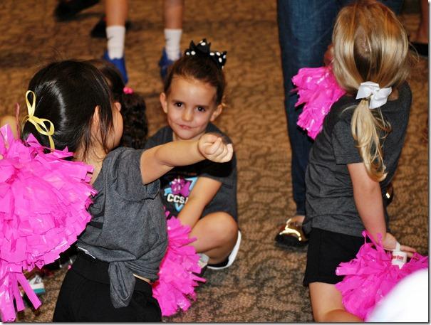 Hannah's First Cheerleading Game 065