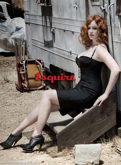 Christina Hendricks linda sensual sexy sedutora decote peito desbaratinando (8)