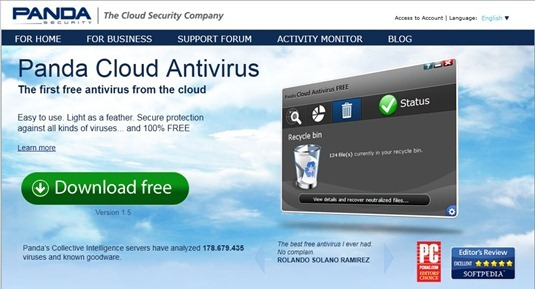 Free Download Panda Cloud Antivirus 1.5.0 for Windows XP, Vista , 7