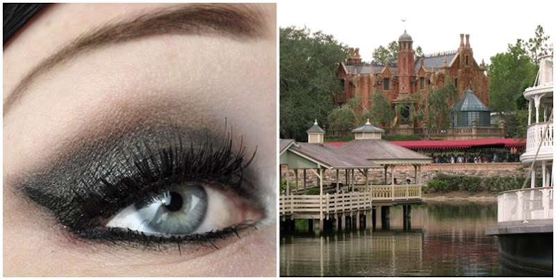 liberty square haunted mansion inspired makeup look walt disney world