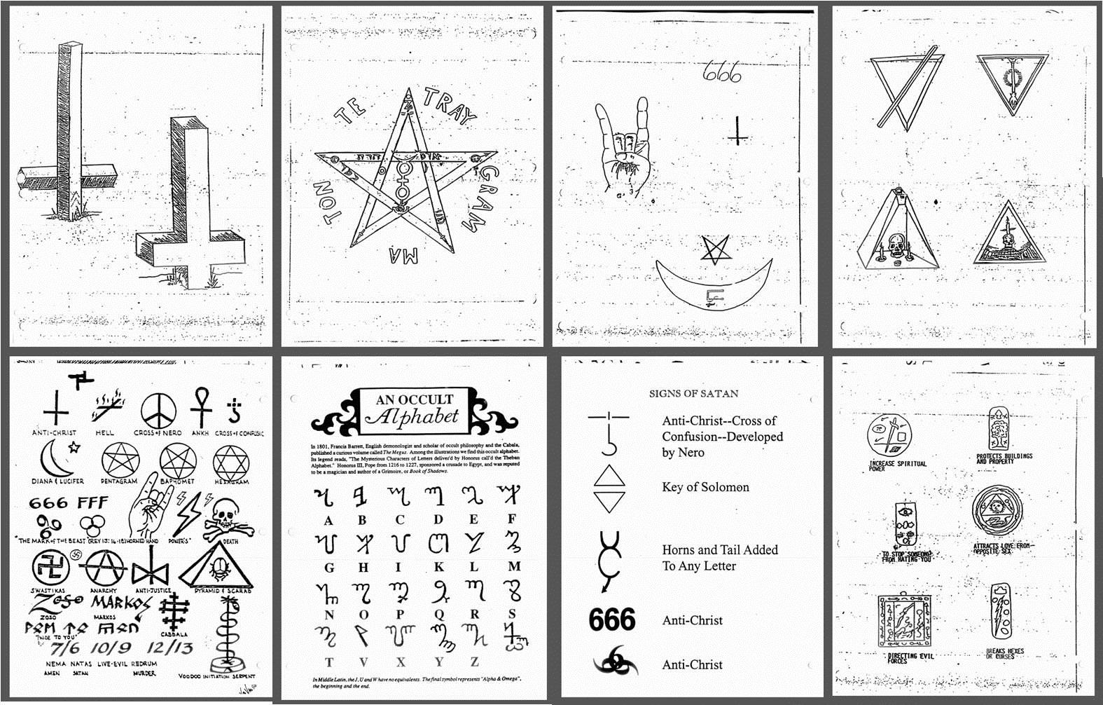 Satanic Symbols Dollar