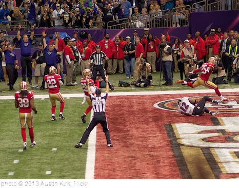 'Jacoby Jones Touchdown' photo (c) 2013, Austin Kirk - license: http://creativecommons.org/licenses/by/2.0/
