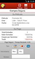 Screenshot of Cines Unidos