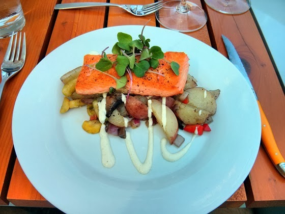 Vanilla Pod: Wild Soho Salmon with Roasted Potatoes and Local Vegetables