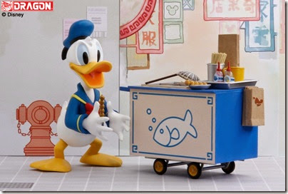 Donald Duck selling curry fish ball 02