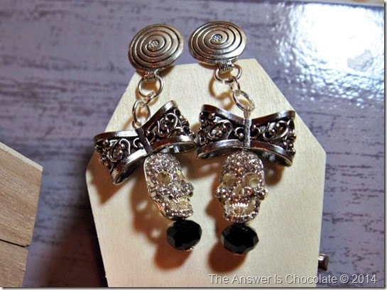 Bow and Skull Earrings