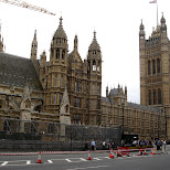 house of commons under construction in London, London City of, United Kingdom