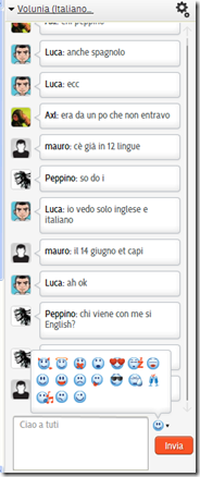 Volunia chat principale