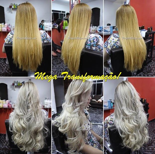 transformação, cabelo, loira platinada, cabelo laranja