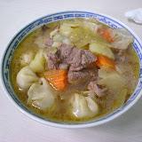 ボーズ入りの野菜スープ