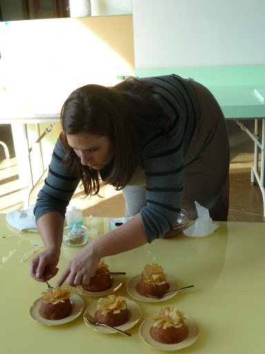 Food Editor Kristina Kurek putting the finishing touches on these mini treats.