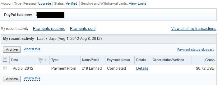 Bukti Pembayaran Adf.ly (Pembayaran Kedelapan)