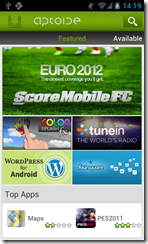 صورة أخرى لواجهة تطبيق Aptoide
