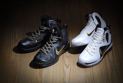 nike lebron 9 ps elite black gold away 11 01 kenlu LeBron 9 P.S. Elite White/Gold (Home) & Black/Gold (Away)