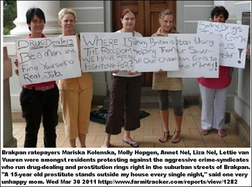 BRAKPAN residents protest prostitution-drug syndicates at their front doorsMARCH302011