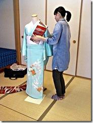 袴の他装着付け練習 (3)