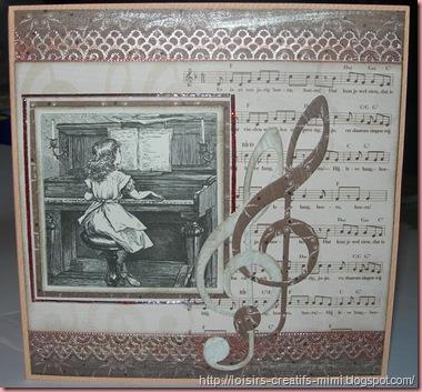 carte vintage musique