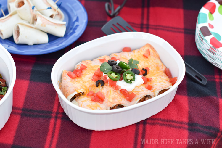 Tex Mex Hot Wing chicken Enchiladas