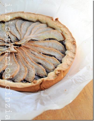 crostata rustica con pere e Nutella (meglio se Nerogianduia)