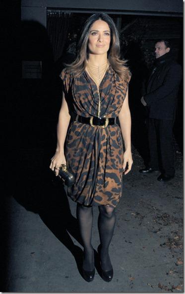 Salma Hayek Salma Hayek Out London Fashion BISZ-wNUYk9l