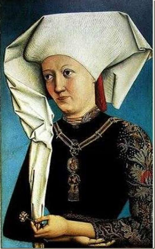 Anonyme, Portrait de femme appartenant à l'ordre du cygne