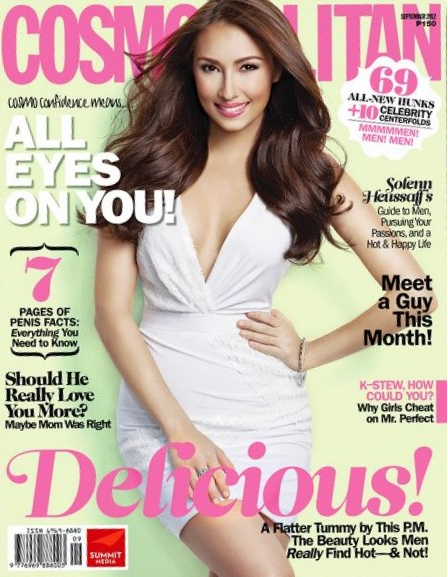 Solenn Heussaff on Cosmopolitan PH Sept 2012 cover