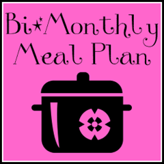 Bi-Monthly Meal Planning