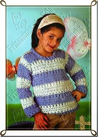 Pull rayado a crochet 5 años