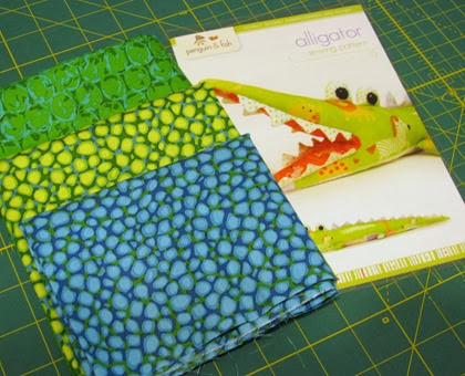 alligator pattern and fabric for blog giveaway