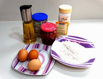 receta bizcocho de fresa