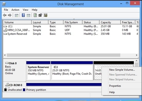 disk Management trong Windows 8