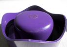 Helit Sinus ashtray violet imprint