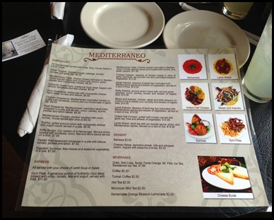 Menu at Authentic Mediterranean restaurant in Dekalb