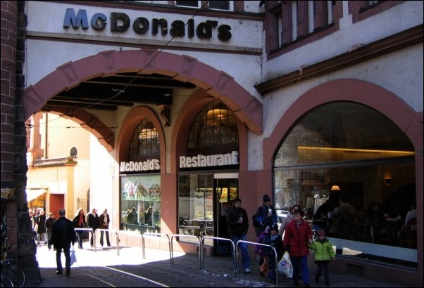 McDonald's at the Martinstor in Freiburg, Germany