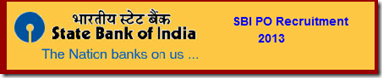 SBI PO Recruitment 2013 Notification