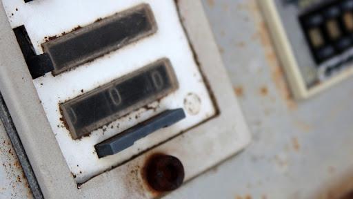 vecchi macchinari ruggine