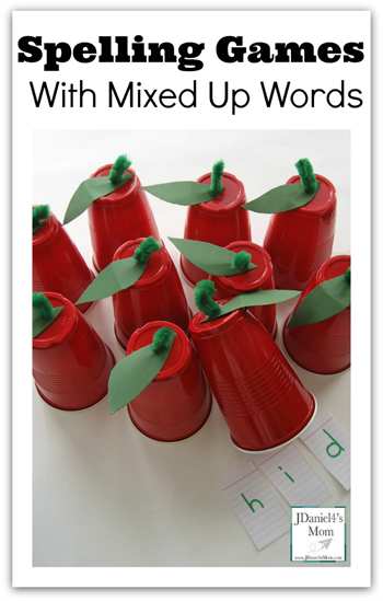 Apple Spelling Games #spelling #homeschool #fall