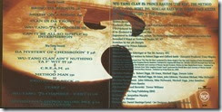 WU-TANG CLAN - Enter the Wu-Tang (36 Chambers) (Inlay)