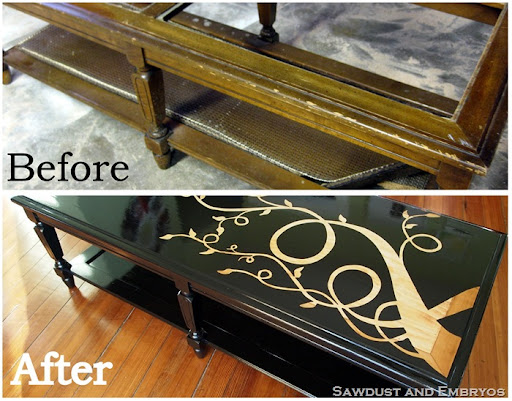 Tutorial Refinishing Furniture with a Wood Grain Stencil