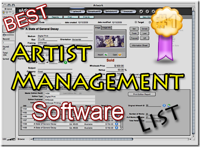 artist management tracking software