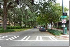 Street in downtown Savannah
