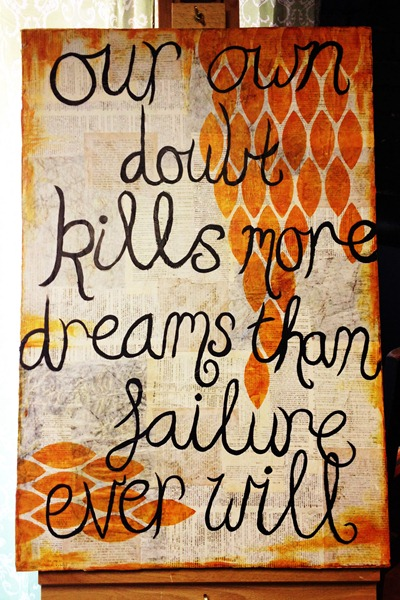 Artful Fancies: Doubt Kills canvas by Melita Bloomer