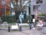 Ino Chukei (1745-1818), Japan's first surveyor. He produced the first accurate map of Japan. This statue is at the Tomioka Hachiman shrine.