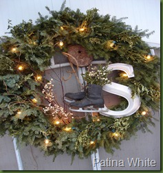 patina white wreath