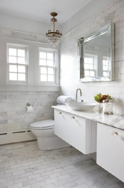 cararra bath inspiration