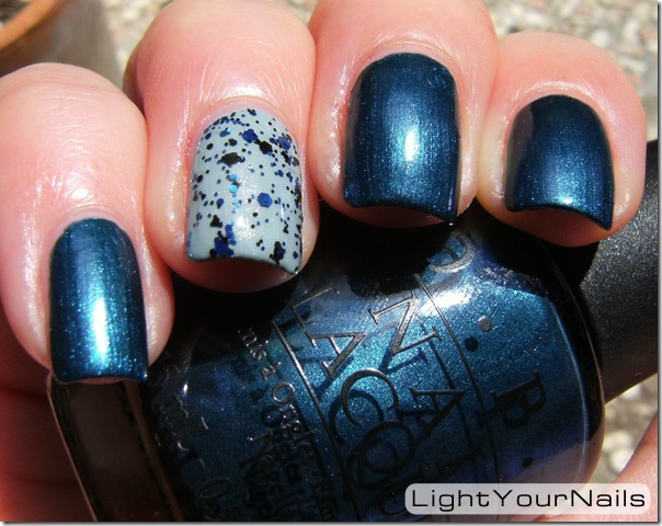 OPI Unfor-Greta-Bly Blue, China Glaze Seaspray, China Glaze Mosaic Madness