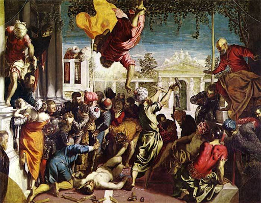 Another famous painting executed in the 16th century with a noticeably Venetian style and inspiration.  (